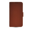 MOONCASE High quality Leather Side Flip Wallet Card Slot Pouch Stand Shell Back ЧЕХОЛДЛЯ Samsung Galaxy S5 I9600 Brown mooncase high quality leather wallet flip card slot pouch stand shell back чехолдля lg l80 brown