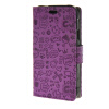 MOONCASE Little Witch Leather Flip Wallet Card Slot Stand Back чехол для Samsung Galaxy Xcover 3 SM-G388F Purple юбка strawberry witch lolita sk