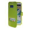 MOONCASE View Window Leather Side Flip Pouch Hard board Shell Back чехол для Samsung Galaxy Note 2 N7100 Green стоимость