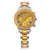 Роскошные женщины Wrsiwatch нержавеющей стали Ручной часы с алмазной Silver & Gold Watch для платья партии GD201514 часы lg watch urbane w150 silver