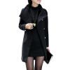 CT&HF Женщины Темперамент Сладкий пальто Горячий продавать Pure Color шерстяные пальто женщин лацканы контракту Классический длинный рукав пальто