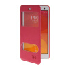 MOONCASE View Window Leather Side Flip Pouch Stand Shell Back ЧЕХОЛ ДЛЯ XiaoMi Rice MI 4 M4 Hot pink roar korea noble leather stand view window case for iphone 7 4 7 inch orange
