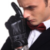 Perilla touch перчатки мужские кожаные перчатки зима теплый ветер плюс флис утолщенные PU перчатки мужчины зима езда мотоцикл мотоцикл перчатки все черные перчатки 1azaliya перчатки