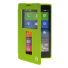 MOONCASE View Window Leather Side Flip Pouch Stand Shell Back ЧЕХОЛ ДЛЯ Nokia XL Green чехол книжка nokia cp 632 для nokia xl черный
