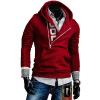 CT&HF Мужчины Личность Отдых Pure Color молнии руно Дизайн хлопок Свободные пальто с длинным рукавом пуловер Красивый контракту руно синдром счастья или ложь по контракту