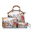 Новый Realer бренд сумка с принтом искусственная кожа сумка женская большие сумки женские кроссбоди сумки для женщин сумка с парижом Эйфелева башня сумка сумка aigner сумки с принтом