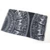 Ванкер повелительницы Большой круглый диск Свежий пятнистый олень шаблон Вуаль шарф шали обруча Палантин черный