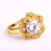 U7 обручальные кольца для женщин Обручальные 2015 Оптовая 18K позолоченный AAA Цирконий розы кольцо обручальные кольца