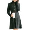 CT&HF Женщины Зима Кардиган Большой Твист Длинные платья вязание свитера