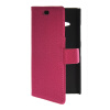 MOONCASE Slim Leather Side Flip Wallet Card Slot Pouch with Kickstand Shell Back чехол для Nokia Lumia 730 Hot pink защитная пленка для мобильных телефонов 3pcs nokia lumia 730 735