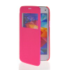 MOONCASE Ultra Thin Leather Side Flip Pouch Hard board Shell Back ЧЕХОЛ ДЛЯ Samsung Galaxy S5 Mini Hot pink mooncase ultra thin leather side flip pouch hard board shell back чехол для samsung galaxy s5 mini black