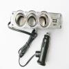 3 гнездо 1 USB разветвителями Автомобильное зарядное устройство Адаптер для iPod/для iPhone/PDA мобильный телефон автомобильное зарядное устройство interstep is cc 2usb22krt 000b201