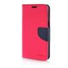 MOONCASE Cross pattern Leather Side Flip Stand Shell Back ЧЕХОЛДЛЯ Samsung Galaxy Grand Prime G5308W Hot pink