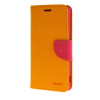 MOONCASE Cross pattern Leather Flip Wallet Card Slot Stand Back чехол для Sony Xperia M4 Yellow mooncase чехол для sony xperia m4 aqua wallet card slot with kickstand flip leather back hot pink