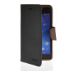 MOONCASE Classic cross pattern Leather Side Flip Wallet Card Pouch Stand Soft Shell чехол для Sony Xperia M2 Black Brown mooncase classic cross pattern leather side flip wallet card pouch stand soft shell back чехол для sony xperia m2 azure
