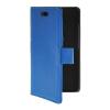 MOONCASE тонкий кожаный бумажник флип сторона держателя карты Чехол с Kickstand чехол для HTC Desire 210 Голубой чехол