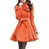 CT&HF Женщины Досуг Мода шерстяные пальто корейской темперамент элегантный Pure Color с длинным рукавом пальто Зимние утолщение контракту Лучшие пальто katerina bleska