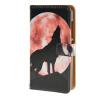 MOONCASE Microsoft Lumia 532 случая Луна Волк шаблон кожаный бумажник флип Слот для карты Кронштейн задняя крышка Крышка A 08