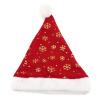 1pcs рождество снежинка картонные hat бархат шапку санта - клауса