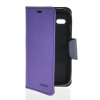 MOONCASE Classic cross pattern Leather Side Flip Wallet Card Pouch Stand Soft Shell Back чехол для Motorola Moto G Purple mooncase classic cross pattern leather side flip wallet card pouch stand soft shell back чехол для sony xperia m2 azure