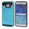 MOONCASE ЧЕХОЛДЛЯ Samsung Galaxy S6 Soft Silicone Gel TPU Skin With Card Holder Protective Blue