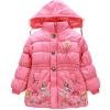 Девушка Kid Детские ребенка Толстые Цветок стеганые пальто с капюшоном толстовка с капюшоном куртки Теплый детский зимний комбинезон