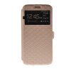 MOONCASE New Fashion Leather Side Flip Wallet Card Stand Pouch ЧЕХОЛДЛЯ Samsung Galaxy S6 Gold luxury stand flip