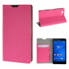 MOONCASE Sony Xperia Z3 Compact ( Z3 Mini ) ЧЕХОЛ ДЛЯ Flip Leather Wallet Card Holder Bracket Back Pouch Hot pink mooncase sony xperia z3 compact z3 mini чехол для flip leather wallet card holder bracket back pouch red