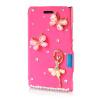 MOONCASE Luxury Flower Crystal Leather Side Flip Wallet Pouch ЧЕХОЛДЛЯ Nokia Lumia 925