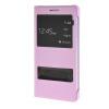 MOONCASE Slim Leather Side Flip Bracket Window чехол для Cover Huawei Honor 7 розовый чехол для сотового телефона honor 5x smart cover grey