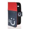 MOONCASE Leather Side Flip Wallet Card Slot Pouch Stand Shell Back ЧЕХОЛДЛЯ Samsung Galaxy Core I8260 I8262 Red Blue аксессуар защитная пленка samsung gt i8262 i8260 galaxy core media gadget premium антибликовая