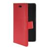 MOONCASE тонкий кожаный бумажник флип сторона держателя карты Чехол с Kickstand чехол для HTC Desire 210 Красный чехол