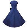 Урожай платье без рукавов лацкане лук большой юбке