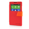 MOONCASE View Window Leather Side Flip Pouch Ultra Slim Shell Back ЧЕХОЛ ДЛЯ Nokia XL Red чехол книжка nokia cp 632 для nokia xl черный