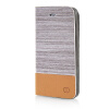 все цены на MOONCASE Canvas Design Leather Side Flip Wallet Pouch Stand Shell Back ЧЕХОЛ ДЛЯ Apple iPhone 5 / 5S Light Brown онлайн