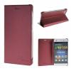MOONCASE Huawei Ascend P8 Lite ЧЕХОЛДЛЯ Premium PU Leather Pouch Flip Red промо коллекция forro чехол для huawei ascend g525 белый розовые цветы