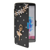 MOONCASE Bling Rhinestone Crystal Ultre Slim Leather Side Flip Wallet Shell Back ЧЕХОЛ ДЛЯ LG G3 Black lg g3 s