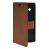 MOONCASE Slim Leather Flip Wallet Card Pouch with Kickstand Shell Back ЧЕХОЛДЛЯ Samsung Galaxy Core 4G G3518 Brown mooncase slim leather side flip wallet card slot pouch with kickstand shell back чехол для samsung galaxy a3 brown