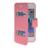 MOONCASE View Window Leather Side Flip Pouch Stand Shell Back ЧЕХОЛДЛЯ Apple iPhone 5C Pink стоимость