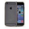 MOONCASE бампер кадр + Мягкие гибкие силиконовый гель ТПУ Оболочка задняя крышка чехол для Apple IPhone 6 (4.7 inch) Черный