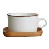 [Супермаркет] Gui Бао Jingdong кружок кофе время серия творческих минималистские пару чашки чашка кофе офис чашка молоко - мокко с деревянной тарелкой паяльник bao workers in taiwan pd 372 25mm