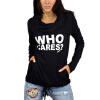 MyMei 2016 New Womens Sweater Knit Shirt Printing Letters Heaps Collar Hooded Sweater karen scott 4785 new womens blue knit ribbed trim pullover sweater m bhfo