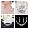 MyMei Bridal Bridesmaid Wedding Party Jewelry Set Crystal Rhinestone Necklace Earrings the unknown bridesmaid