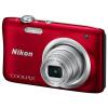 Nikon Coolpix A100 Портативная цифровая камера (мегапиксельный 2,7-дюймовый экран с 5-кратным оптическим зумом шириной 26 мм) Красный nikon coolpix a100