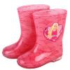 Барби Барби детский мультфильм дождь сапоги нескользящие сапоги дождя девочки дети ученики воды обувь весной и летом модели BX-003 Барби принцесса Розовый 27 метров