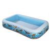 INTEX Надувной бассейн Прямоугольный бассейн с бассейном надувной бассейн intex intex надувной бассейн кристалл 147х33 голубой