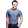 Новое поступление мужчин клетчатые рубашки 2016 модные мужские летние рубашки короткий рукав тонкий подходит свободного покроя рубашки 4 цвета плюс Размер 5xl рубашки page 4