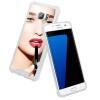 Samsung Мобильный телефон Дело ESCASE S7 металлическое зеркало телефон оболочки мобильный телефон устанавливает DROP желтеет мягкой оболочки телефон оболочки Tingbai Ю. Хан погремушки s s телефон