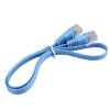 1шт RJ45 CAT6 8P8C Плоский Ethernet патч Сетевой кабель Lan 0.5м кабель синий cat6 180 degree angle rj45 ethernet keystone round jack coupler pack of 5