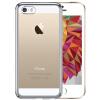 BIAZE Apple, 5S / SE / 5 телефона оболочка iPhone5S / SE / 5 Case покрытия все включено DROP прозрачного TPU мягких оболочки серебра JK114-